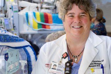 A portrait of Claudette Theuriere, a NICU nurse at NewYork-Presbyterian/Weill Cornell Medical Center