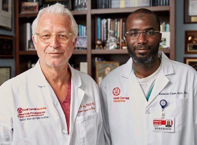 Portrait of Dr. Philip Stieg and Dr. Babacar Cisse