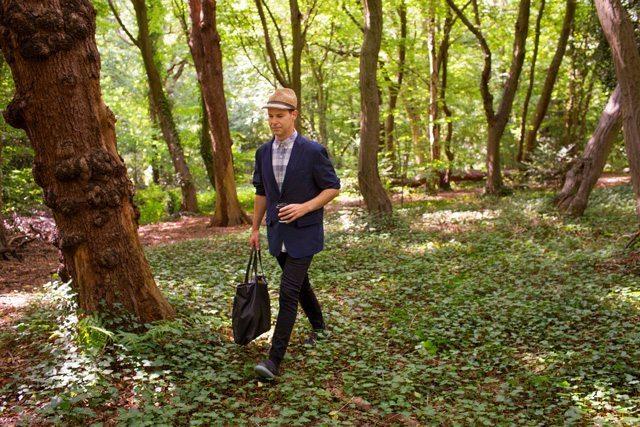 Noma Bar walking through the woods