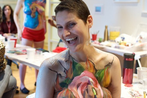 Portrait of a woman with body paint