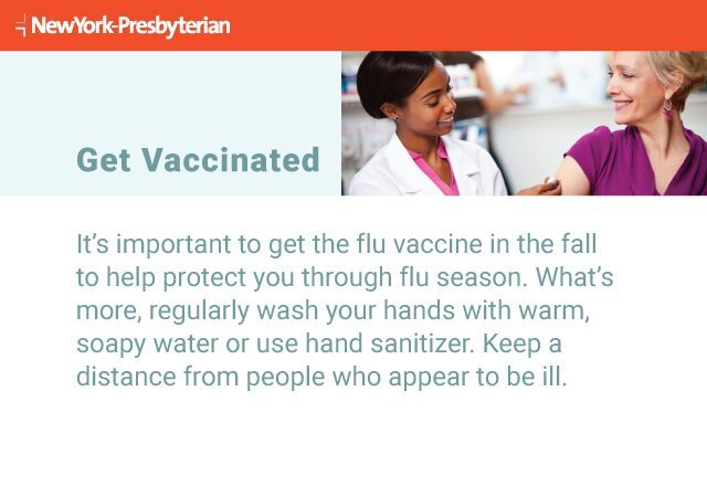 Text explaining why it's important to get vaccinated against the flu