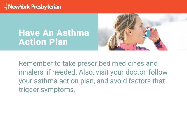 Text explaining why it's important to have an asthma action plan