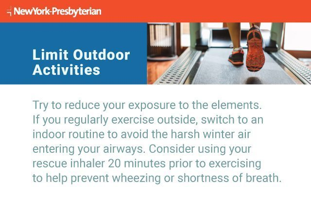 Text explaining why it's important to limit outdoor activities