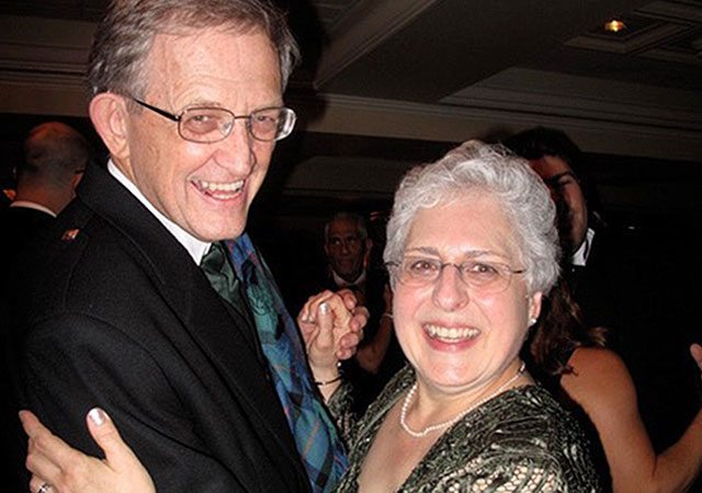 Joan and Bill McComas enjoying a dance together