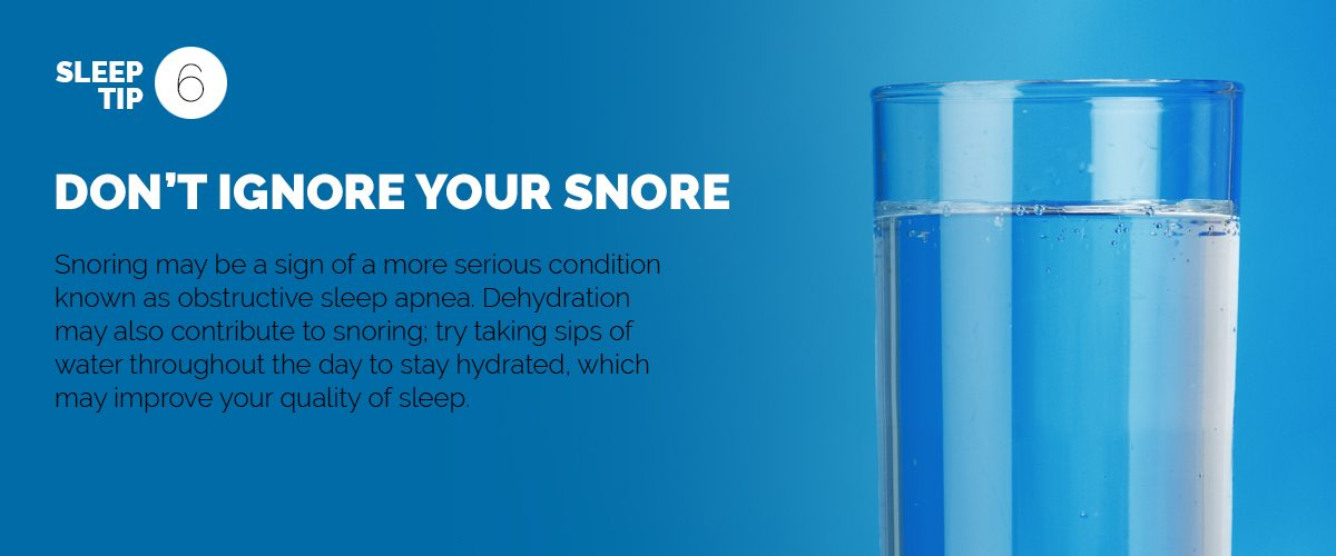 Text explaining the importance of paying attention to snoring