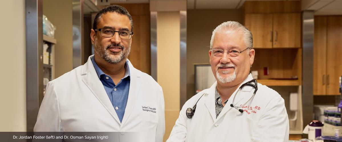 Portrait of Drs. Jordan Foster and Osman Sayan