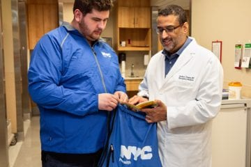 "Dr. Jordan Foster with wellness advocate Ben ""Big Ben"" Mushlin"