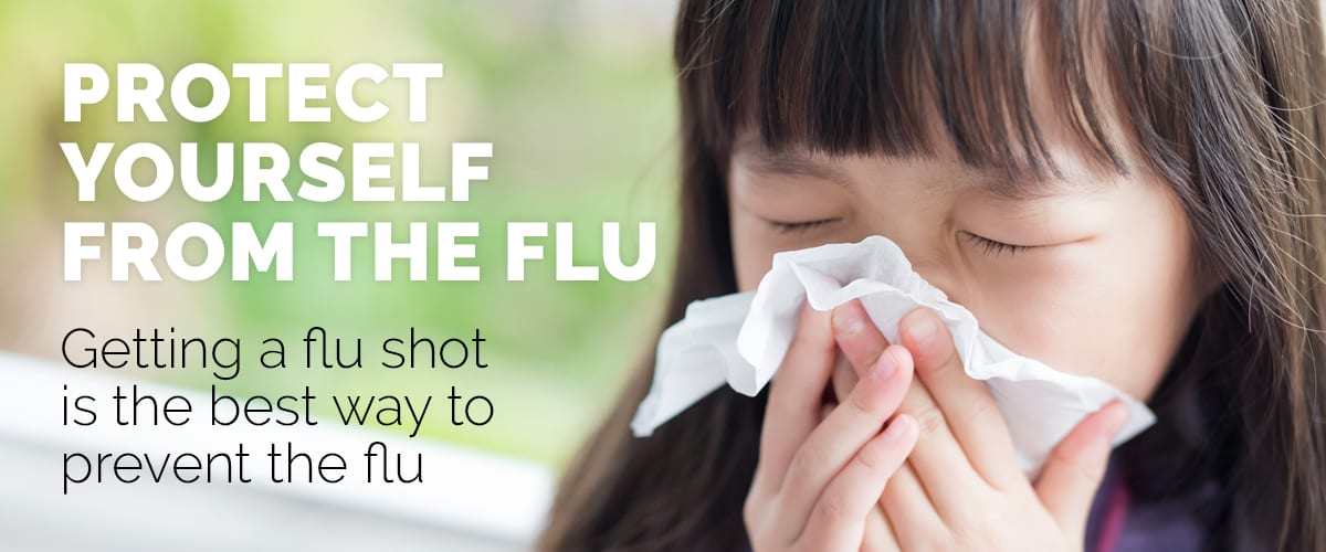 Text explaining the importance of getting a flu shot