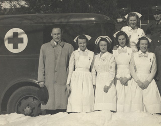 Dr. Charles Drew with the first mobile blood collecting unit in 1941