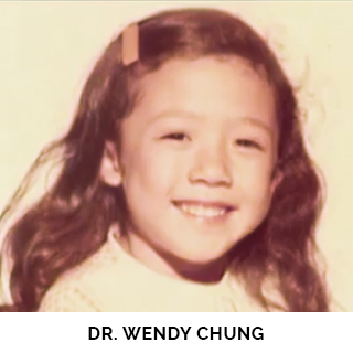 Dr. Wendy Chung as a child