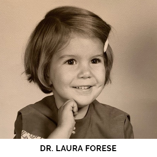 Dr. Laura Forese as a child