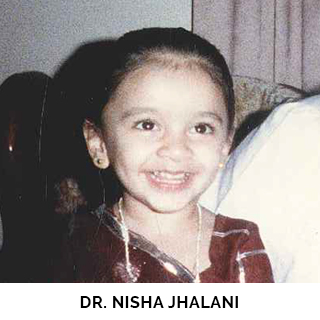 Dr. Nisha Jhalani as a child
