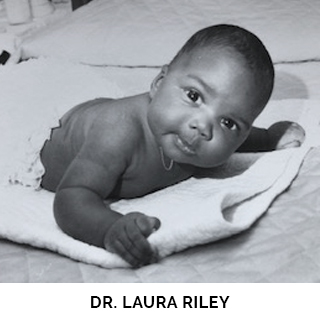 Dr. Laura Riley as a baby