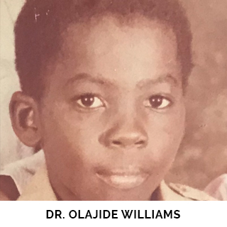 Dr. Olajide Williams as a child