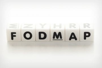 Letter tiles spelling out FODMAP