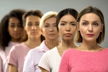 Diverse group of women showing how gynecologic cancer affects a variety of women.