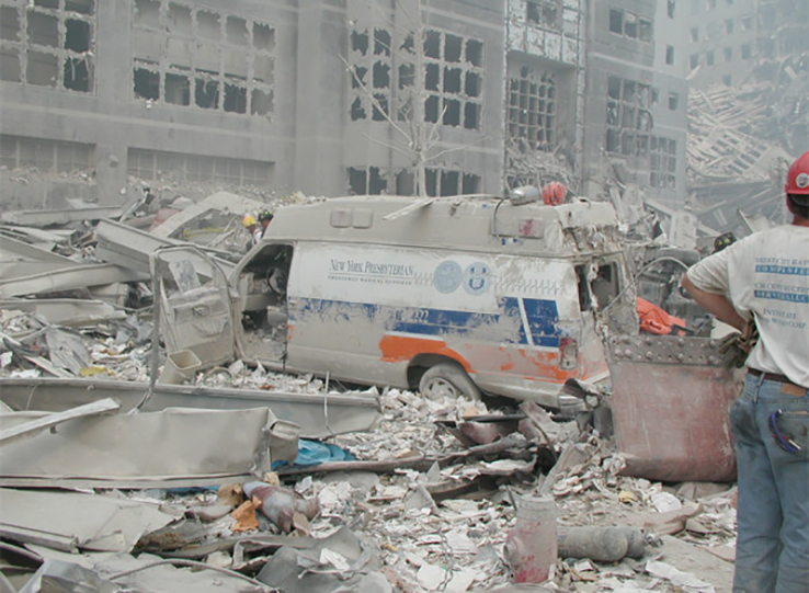 Emergency vehicle destroyed on September 11