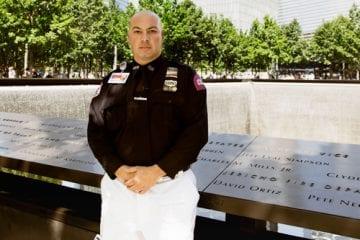 John Episcopo at the September 11 memorial