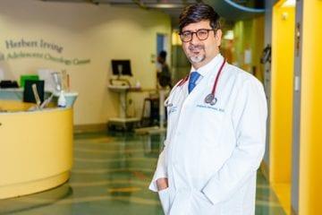 Portrait of Dr. Satwani, bone marrow transplant expert.