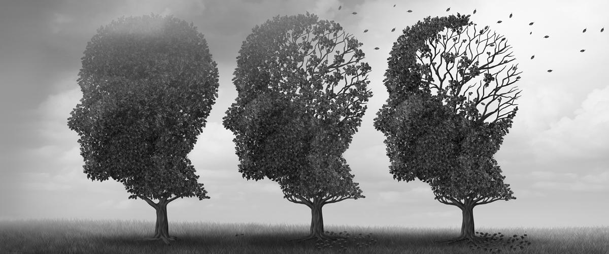 Alzheimer's or aging illustration