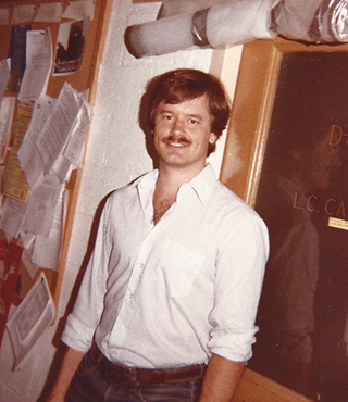 Lewis Cantley, world-renowned leader in cancer research, in 1980 at Harvard.