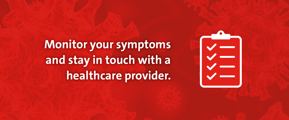 Slideshow explaining what to do if you think you've been exposed to coronavirus.