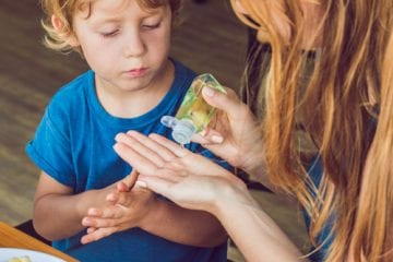 Mother talking to kid about coronavirus
