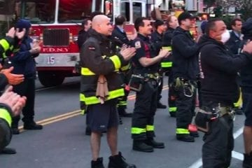 FDNY firefighters clapping