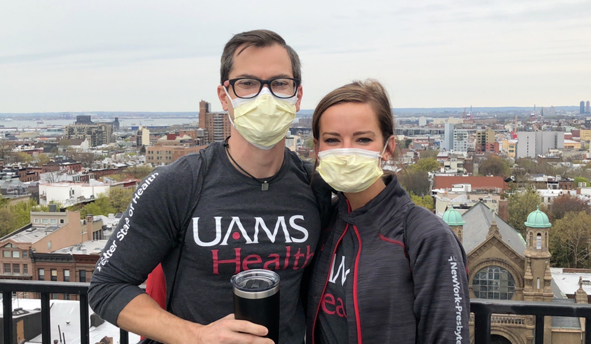 Richard Milam and Charity Martin from UAMS, one of the healthcare teams helping NYP during COVID-19.
