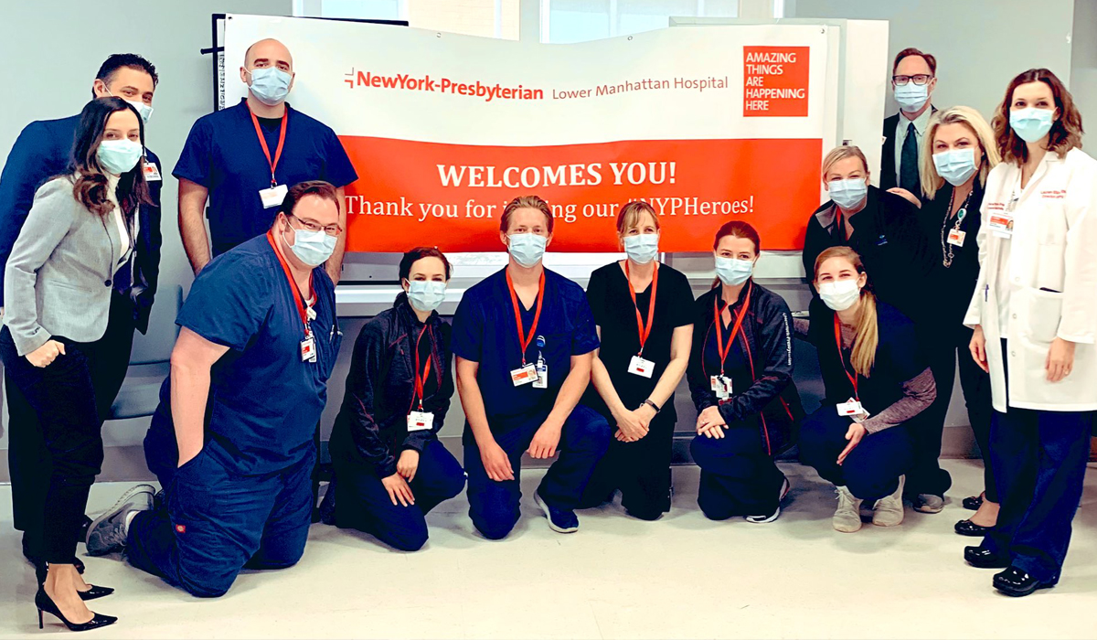 Team from Intermountain Healthcare, one of the healthcare teams helping NYP during COVID-19.