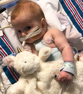 Ruby Cotter, pediatric heart transplant patient.