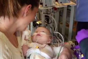 Ruby Cotter, pediatric heart transplant patient, with her mother Ashley.