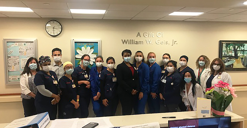 The 4 South Medical-Surgical team at NYP Hudson Valley Hospital