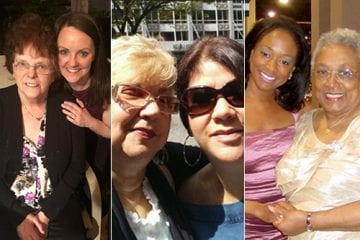 A triptych of mothers and daughters