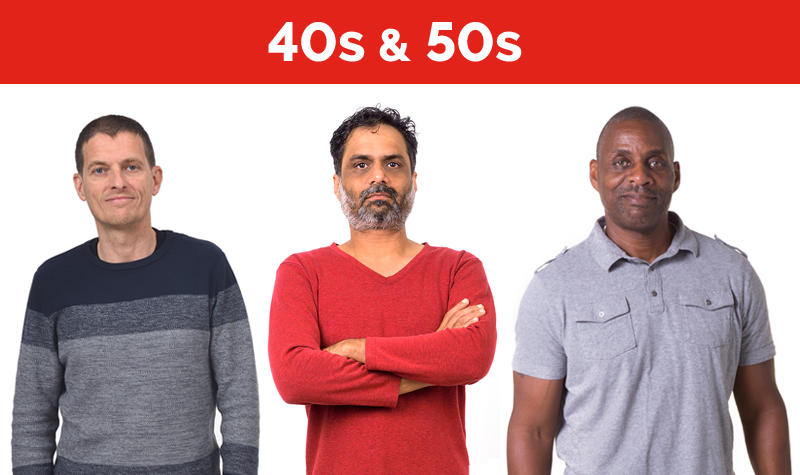 men's health exam checklist for 40s and 50s