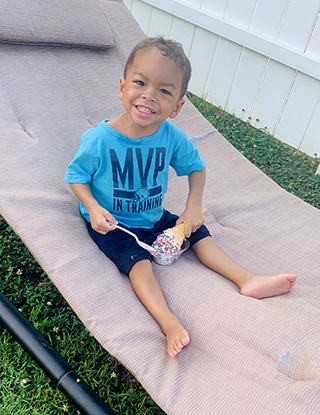 Ian Charles celebrates his third birthday after a successful pediatric liver trasnplant at NewYork-Presbyterian Morgan Stanley Children's Hospital.