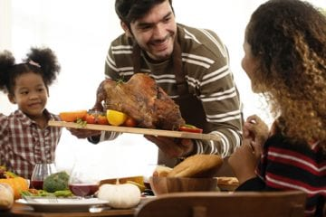 family celebrates Thanksgiving during COVID-19 pandemic