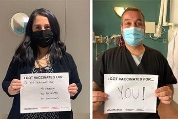 NYP staffers gets COVID-19 vaccine