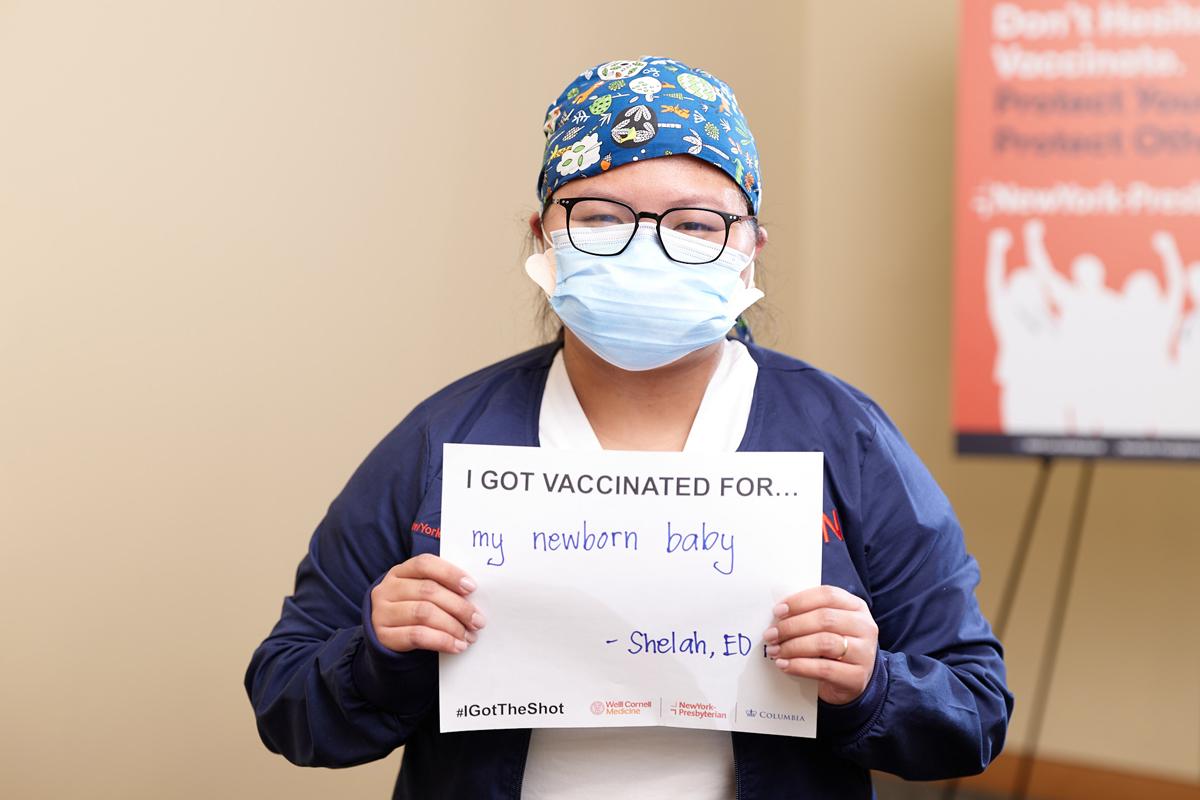 NYP staffer gets COVID-19 vaccine