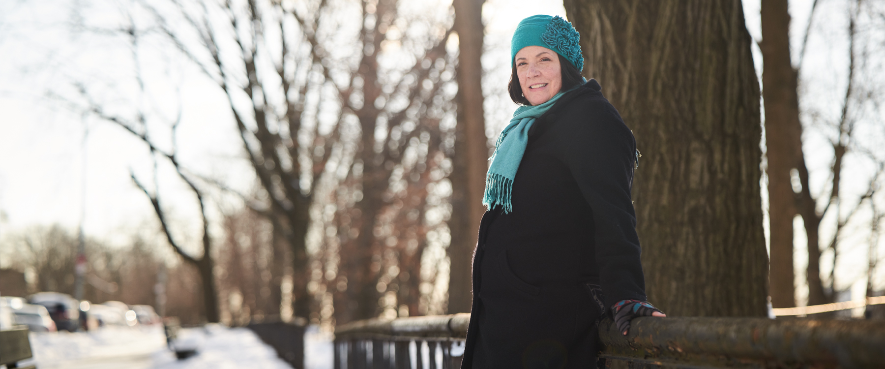 Mary Darby enjoys a stroll in the park.