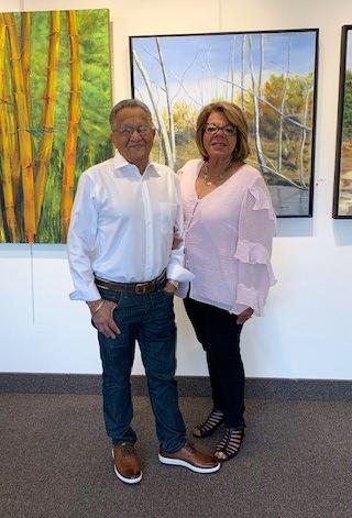 Linda with her husband.