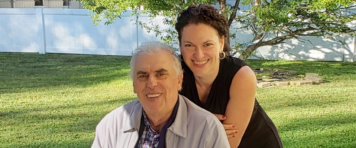 Father's Day photo of daughter and father smiling