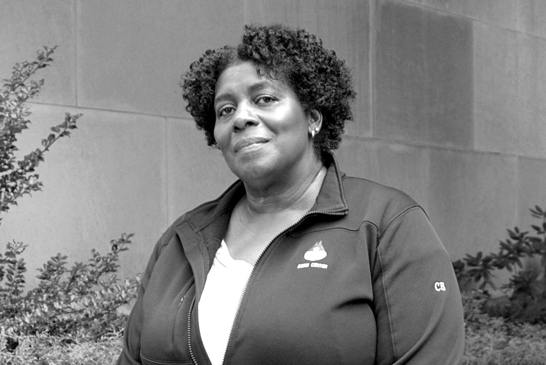 Cathy Birch, unit clerk at the William Randolph Hearst Burn Center