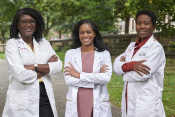 Brooklyn cancer experts Dr. Evelyn Taiwo. Dr. Vivian Bea, and Dr. Onyinye Balogun